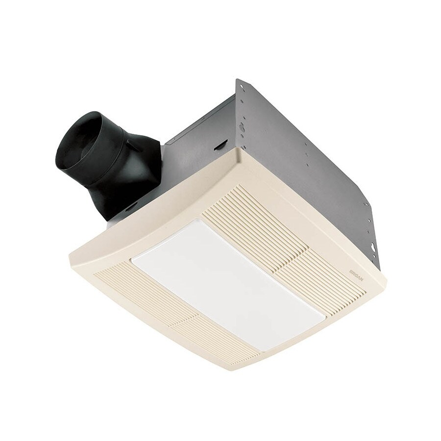 Shop Broan 1 3 Sone 110 Cfm White Bathroom Fan With Light Energy Star At