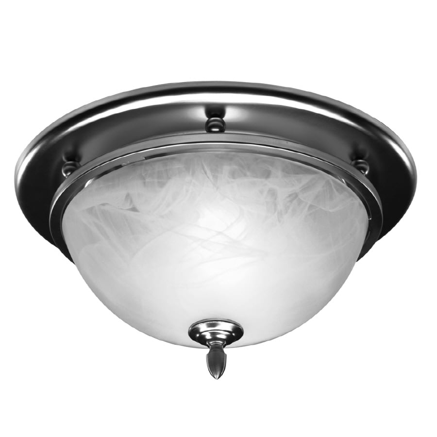 Broan 3.5-Sone 70-CFM Satin Nickel Bathroom Fan with Light