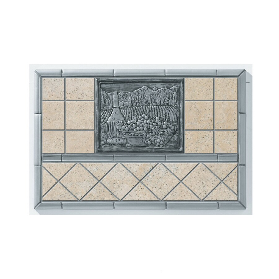 Shop Broan 20-in x 30-in Cream Stone Kitchen Backsplash at Lowes.com