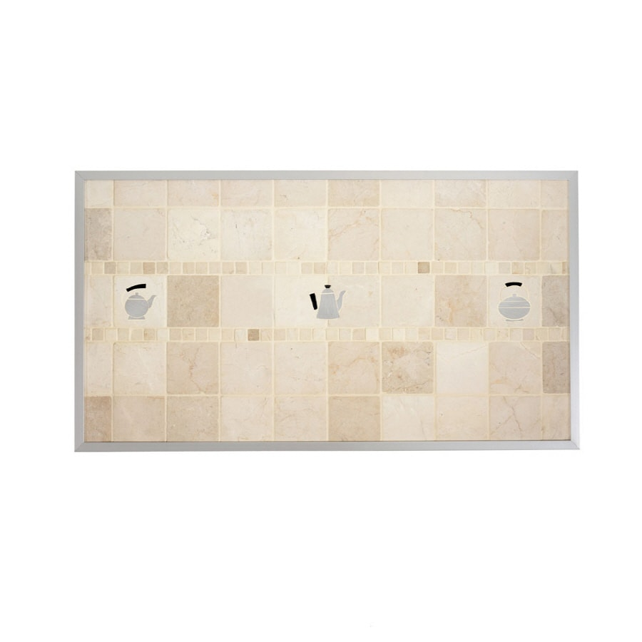 Broan 20-in x 36-in Cream Stone Kitchen Backsplash