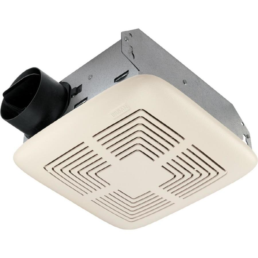 Shop broan 4 sone 70 cfm white bathroom fan at for Bathroom ventilation