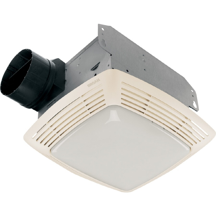 Broan 2.5-Sone 80-CFM White Bathroom Fan with Light
