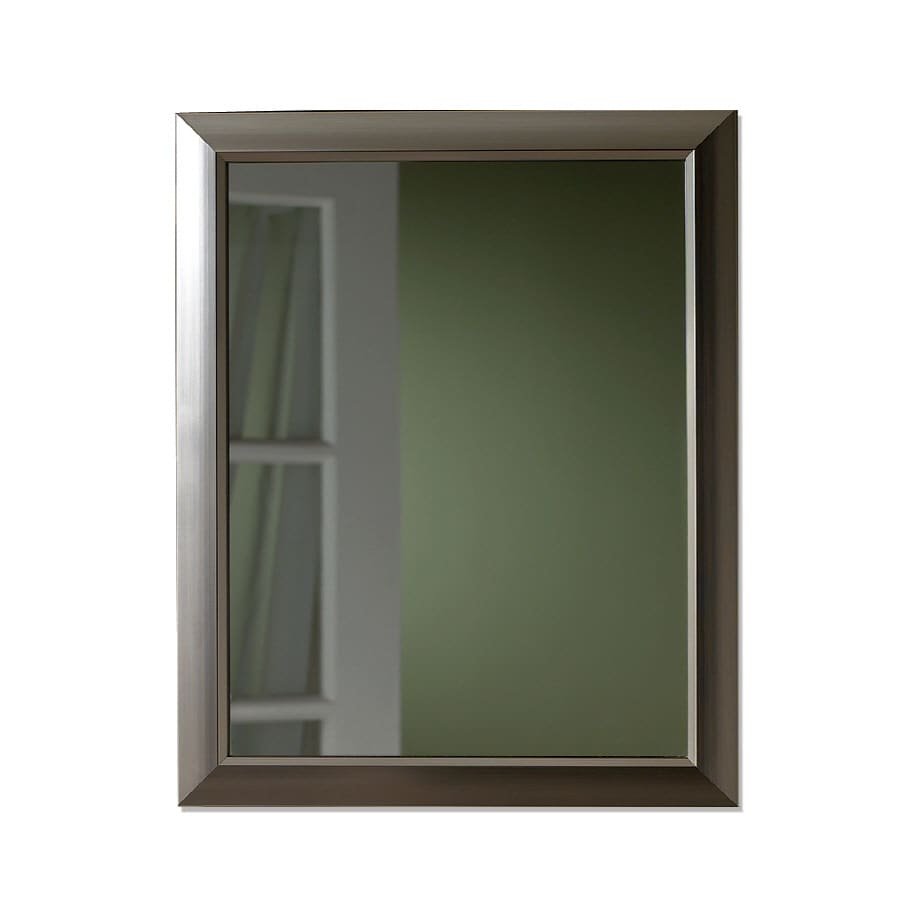 Broan 15-in x 19-in Brushed Nickel Metal Surface Mount and Recessed Medicine Cabinet
