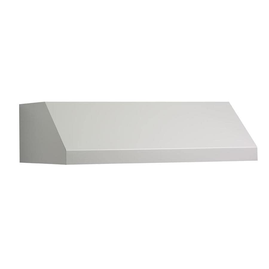 Shop Broan Undercabinet Range Hood White Common 36 In