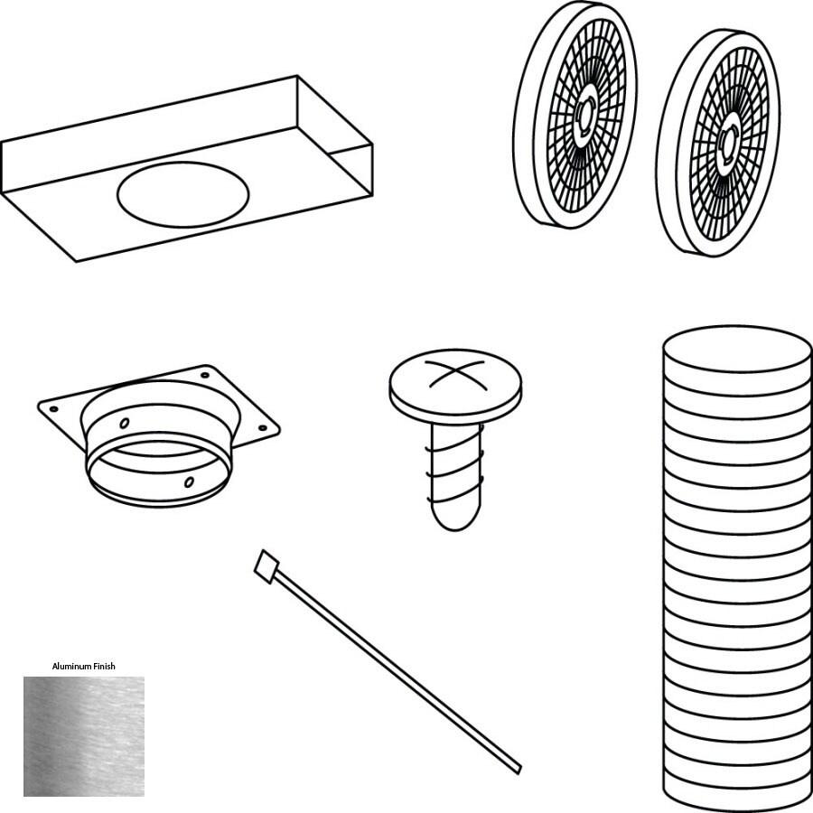 Broan Duct-Free Wall-mounted Range Hood Recirculation Kit (Aluminum)