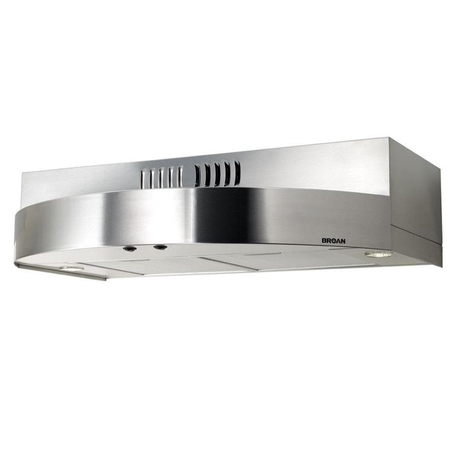 Shop Broan Undercabinet Range Hood (Stainless Steel) (Common: 30 ...