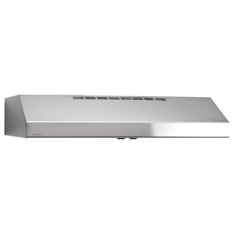 Shop Broan Undercabinet Range Hood Stainless Steel