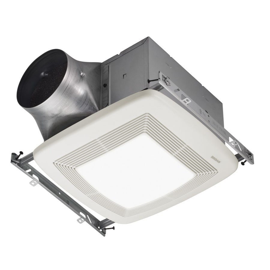 Broan 0.3-Sone 80-CFM White Bathroom Fan with GU24 Room and Night Light ENERGY STAR