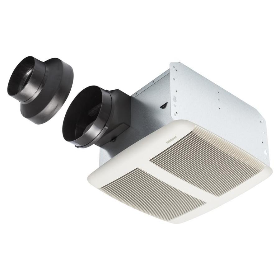 Bathroom Exhaust Fan With Heater shop broan 1.5-sone 140-cfm white bathroom fan energy star at