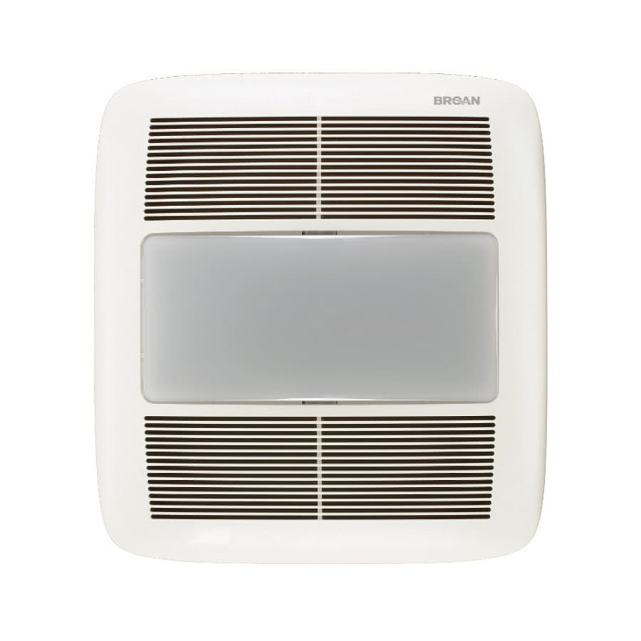 Broan 1 5 Sone 140 CFM White Bathroom Fan with GU24 Room and Night Light. Shop Bathroom Fans at Lowes com