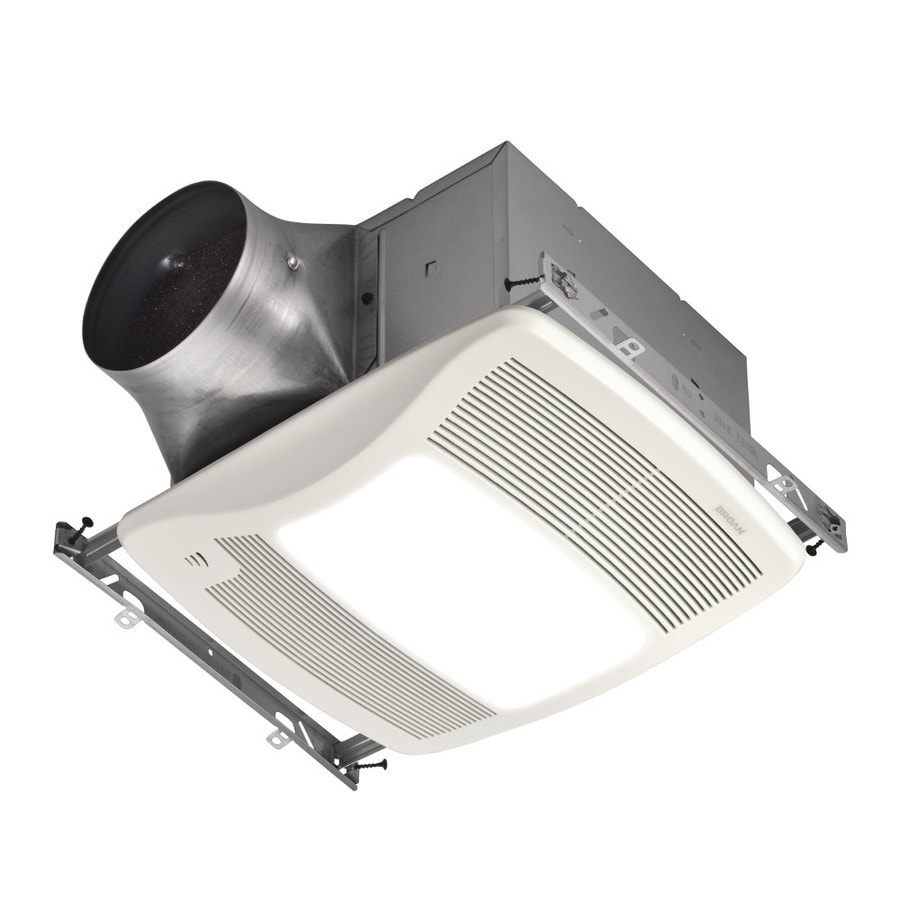 Broan 0.3-Sone 110-CFM White Bathroom Fan with Light ENERGY STAR