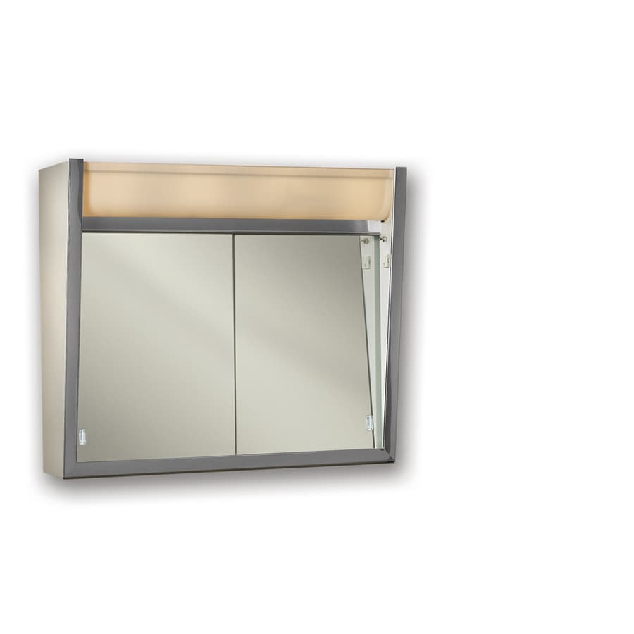 Shop Broan Ensign 24 In X 23 5 In Rectangle Surface Mirrored Steel Medicine Cabinet Outlet