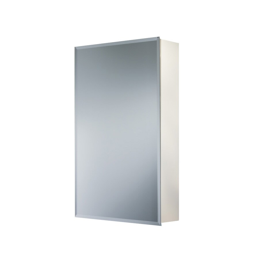 26 in rectangle surface mirrored steel medicine cabinet at