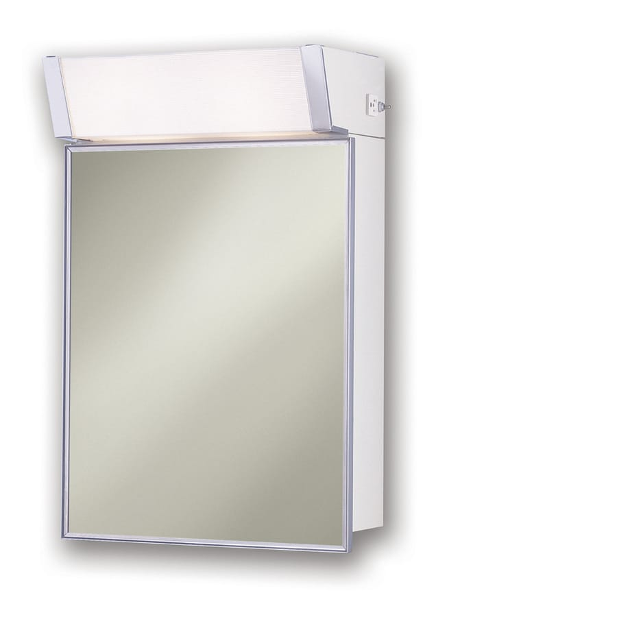 mirrored steel medicine cabinet outlet included lighted at