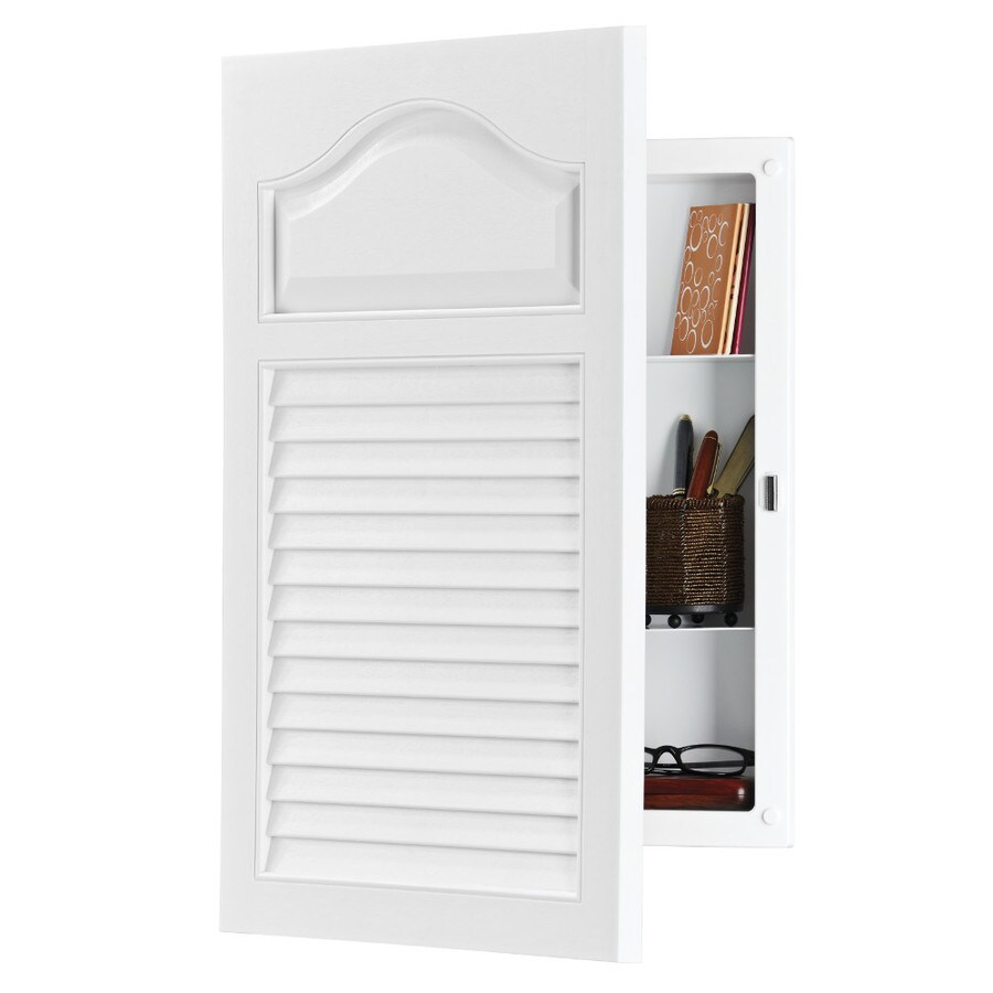 Shop Broan Louver Doors 24.5-in H x 16.25-in W White Plastic ...