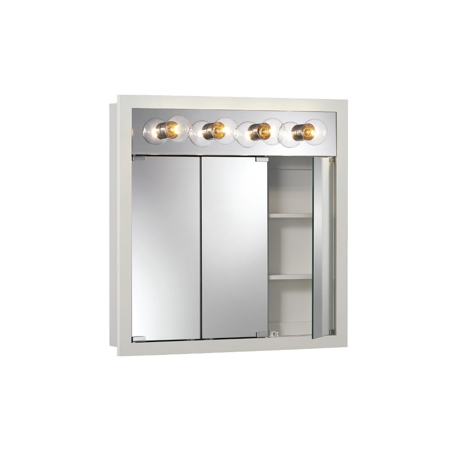 lowes medicine cabinets with lights shop broan granville 30 in x 30 in rectangle surface 22918