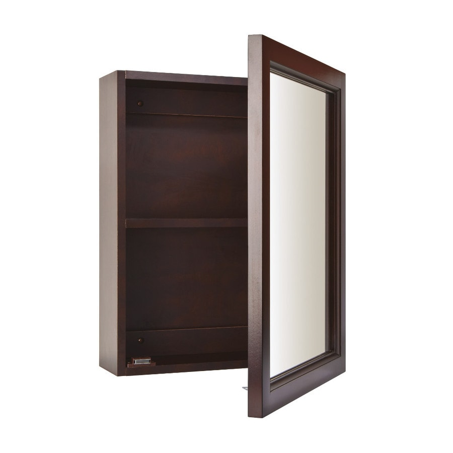 broan sheridan 15in x 19in espresso cherry surface mount medicine cabinet