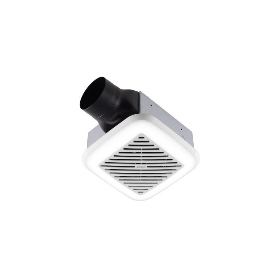Broan 1.5 Sones 100-CFM White Bathroom Fan LED with Light ENERGY STAR
