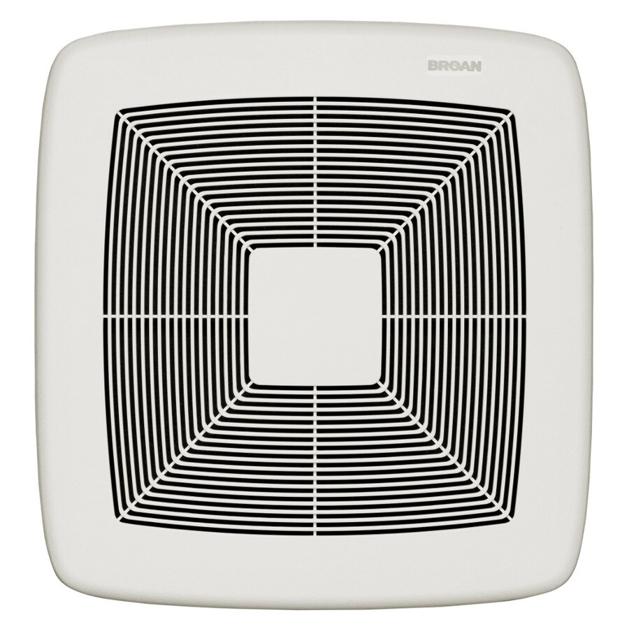 Broan 0.6-Sone 110-CFM White Polymeric Bathroom Fan ENERGY STAR