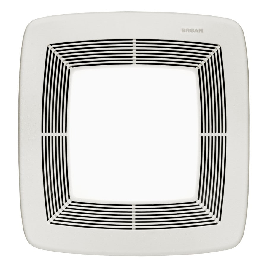 Broan 0.3-Sone 80-CFM White Polymeric Bathroom Fan with Light ENERGY STAR