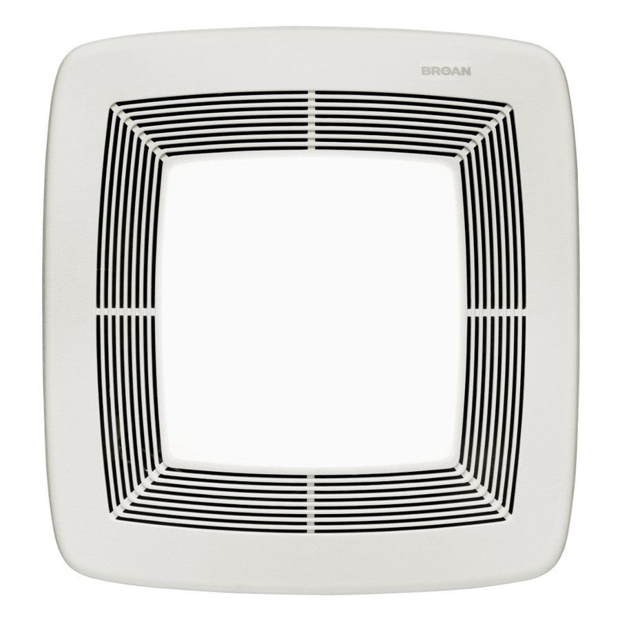 Broan 0.3-Sone 80-CFM White Polymeric Bathroom Fan ENERGY STAR