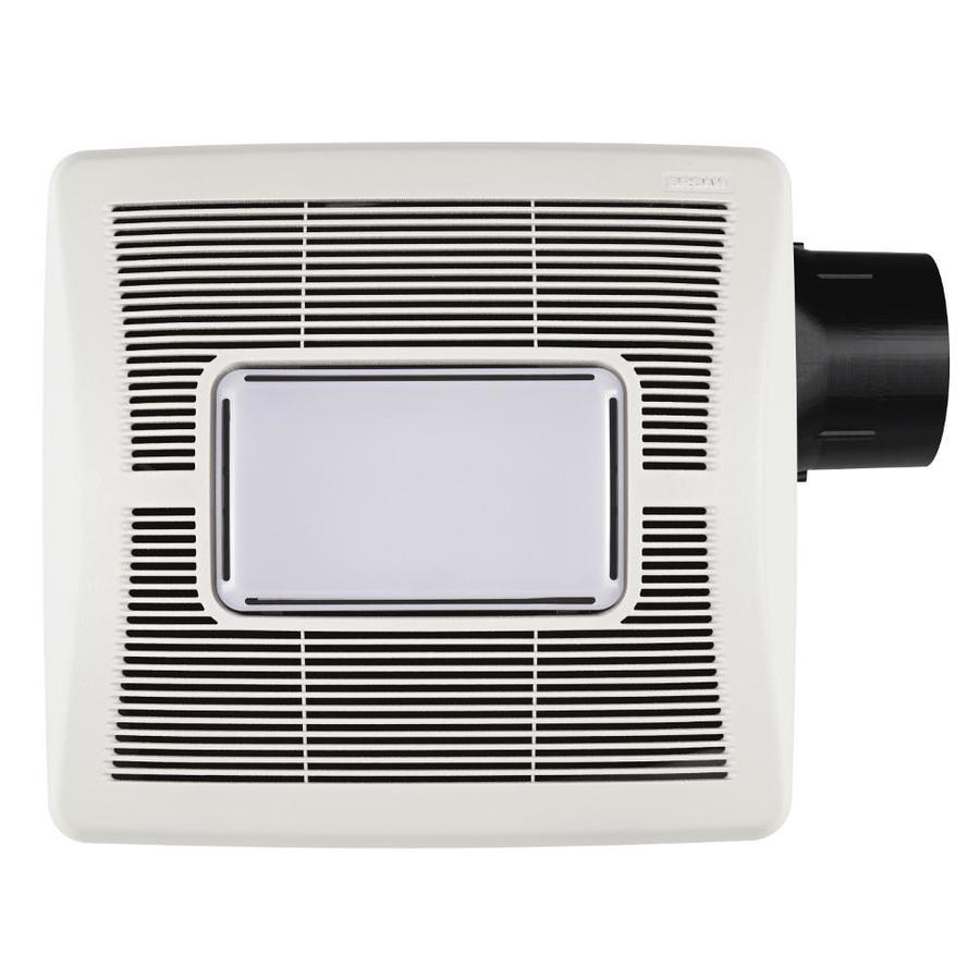 Shop Broan 1 Sone 80 Cfm White Bathroom Fan At
