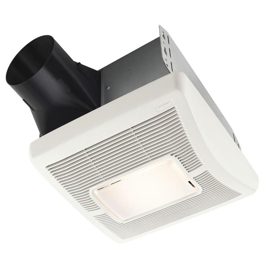 Shop Broan 1 3 Sone 110 Cfm White Bathroom Fan At