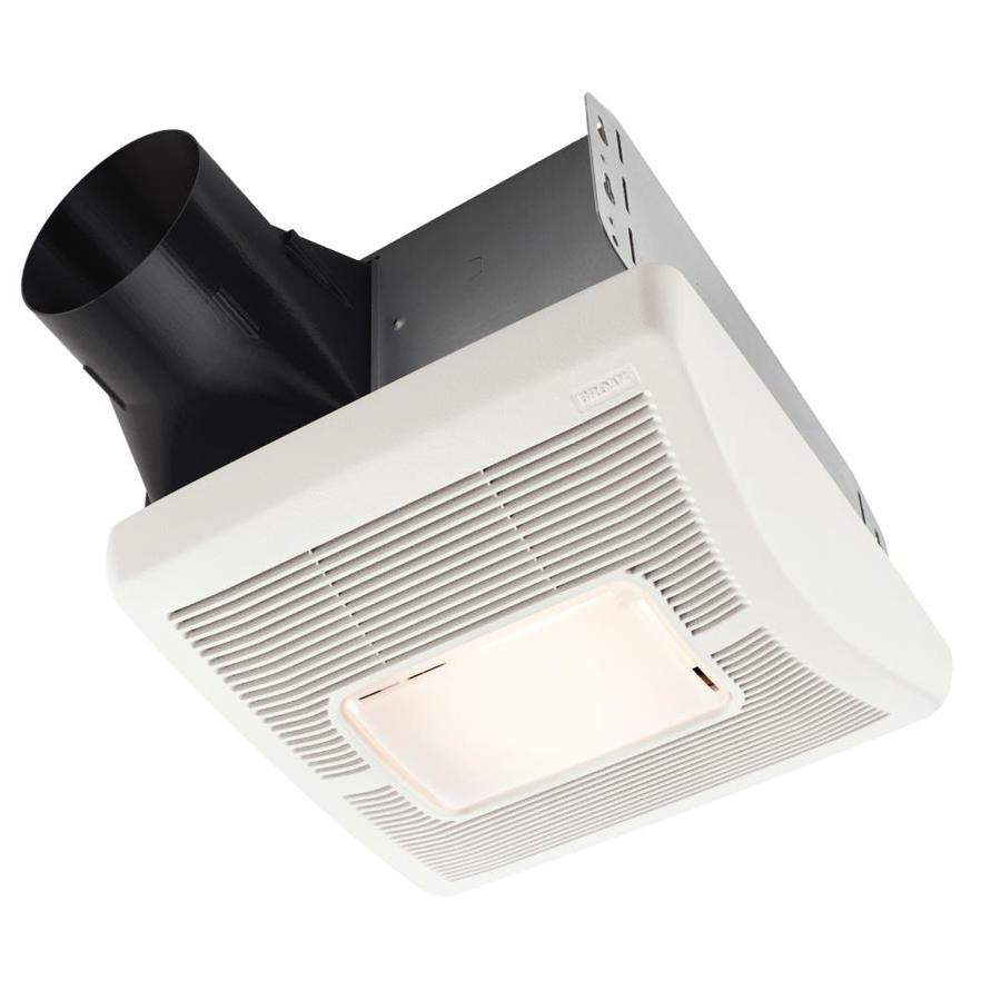 Broan 2-Sone 70-CFM White Bathroom Fan