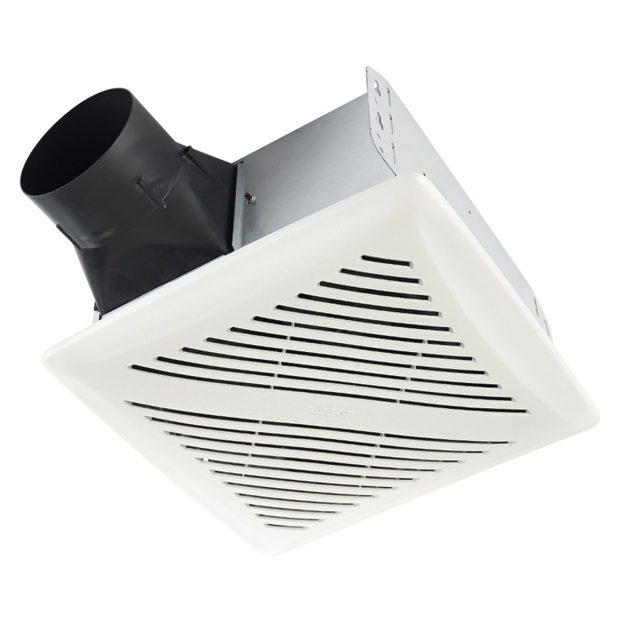 Broan 2-Sone 80-CFM White Bathroom Fan