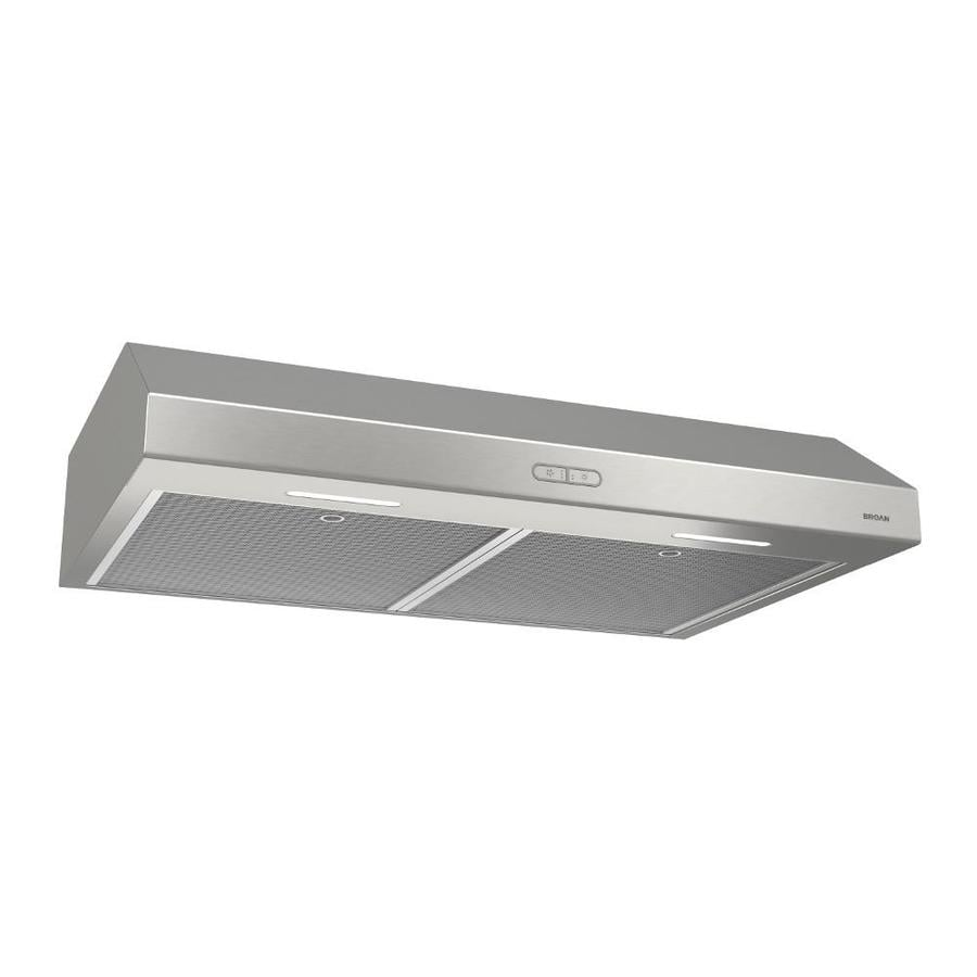 Broan Undercabinet Range Hood Stainless Steel Common 42 In Actual