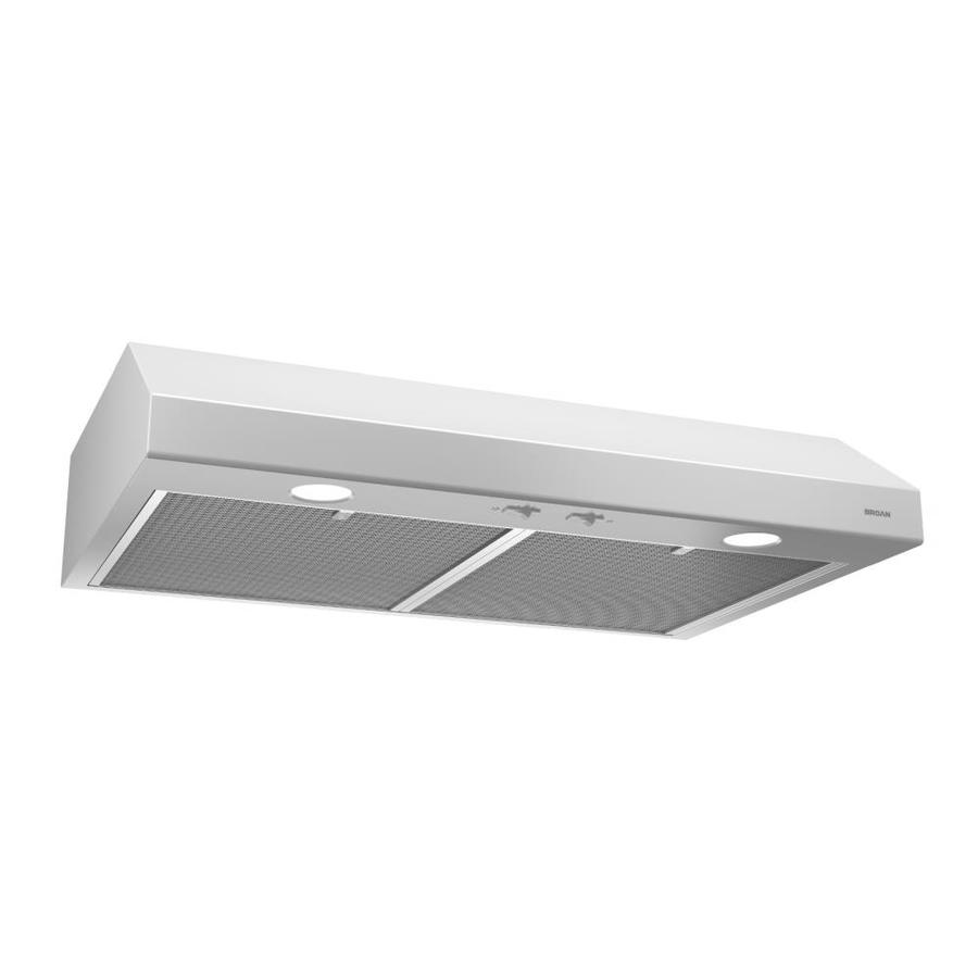 Broan 24 In Convertible White Undercabinet Range Hood Common Inch Actual 23 87
