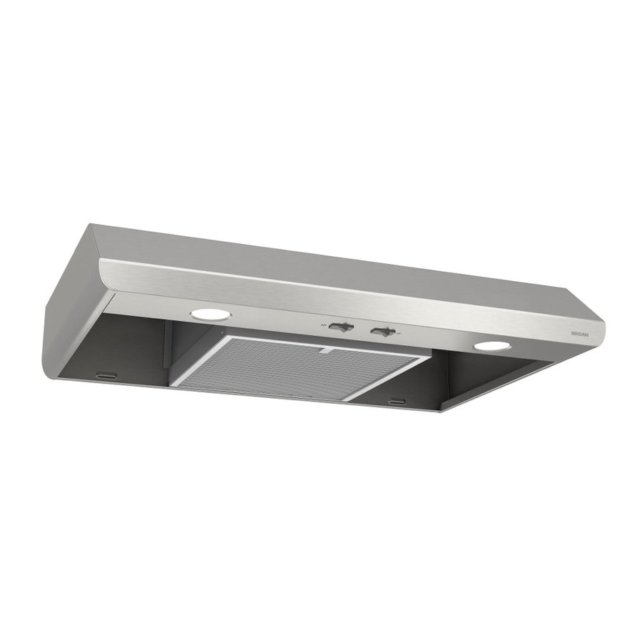 Broan Undercabinet Range Hood (Stainless) (Common: 30-in; Actual: 29.87-in)