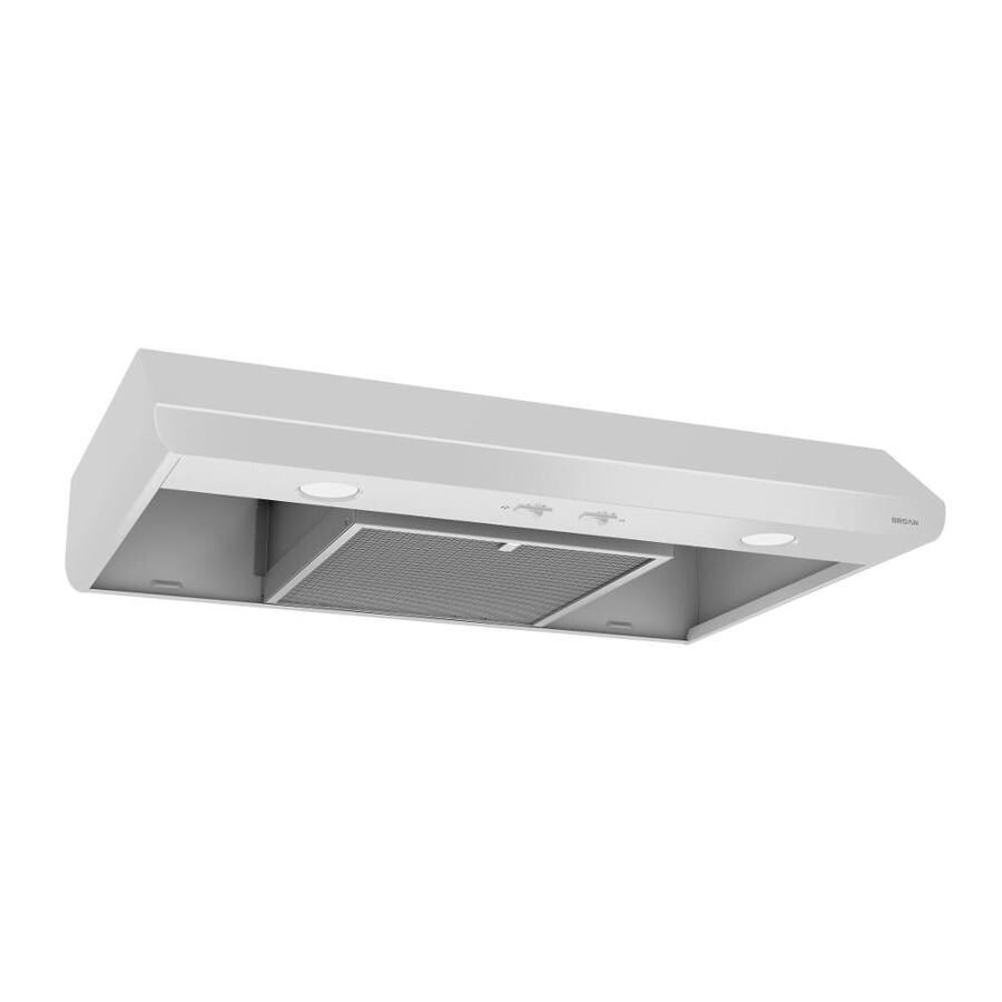 Lowe S Range Hoods ~ Shop broan undercabinet range hood white common in