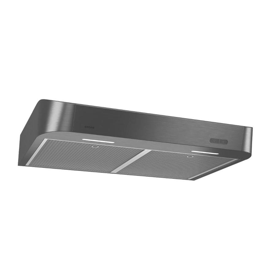 Broan Undercabinet Range Hood (Fingerprint Resistant Black Stainless Steel)  (Common: 30