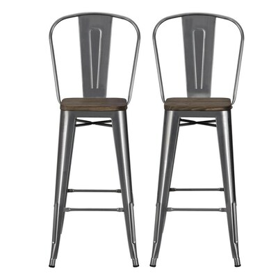 Super Dhp Set Of 2 Antique Silver Tall 36 In And Up At Lowes Com Machost Co Dining Chair Design Ideas Machostcouk