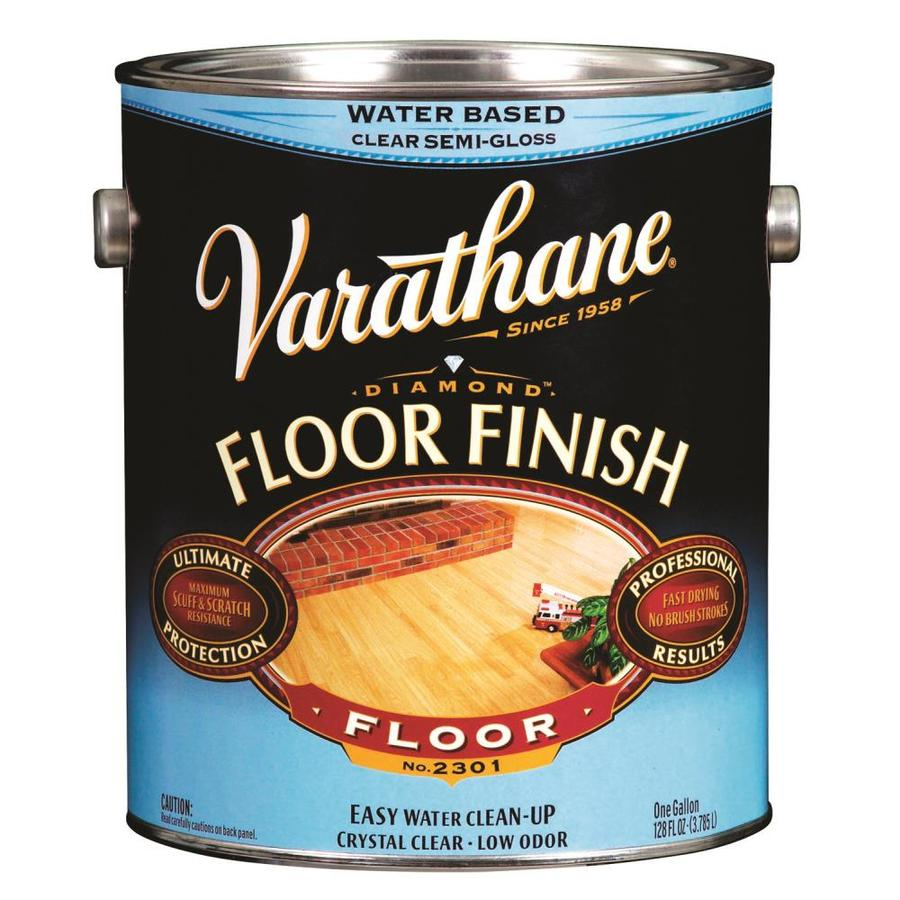 Varathane Floor Finish 128-fl oz Semi-gloss Water-based Polyurethane