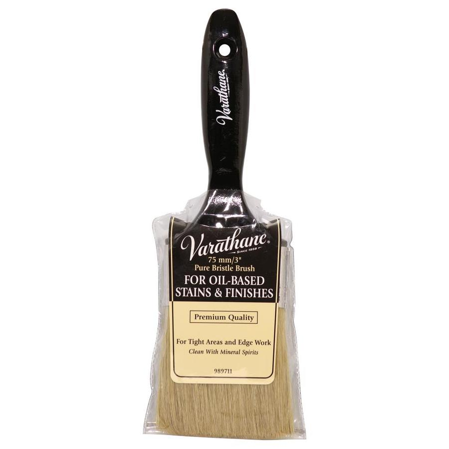Rust-Oleum Floor Finishing Natural Bristle Flat Sash Paint Brush (Common: 3-in; Actual: 3-in)