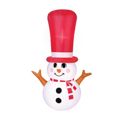 Christmas Inflatables.Airflowz 4 Ft Lighted Snowman Christmas Inflatable At Lowes