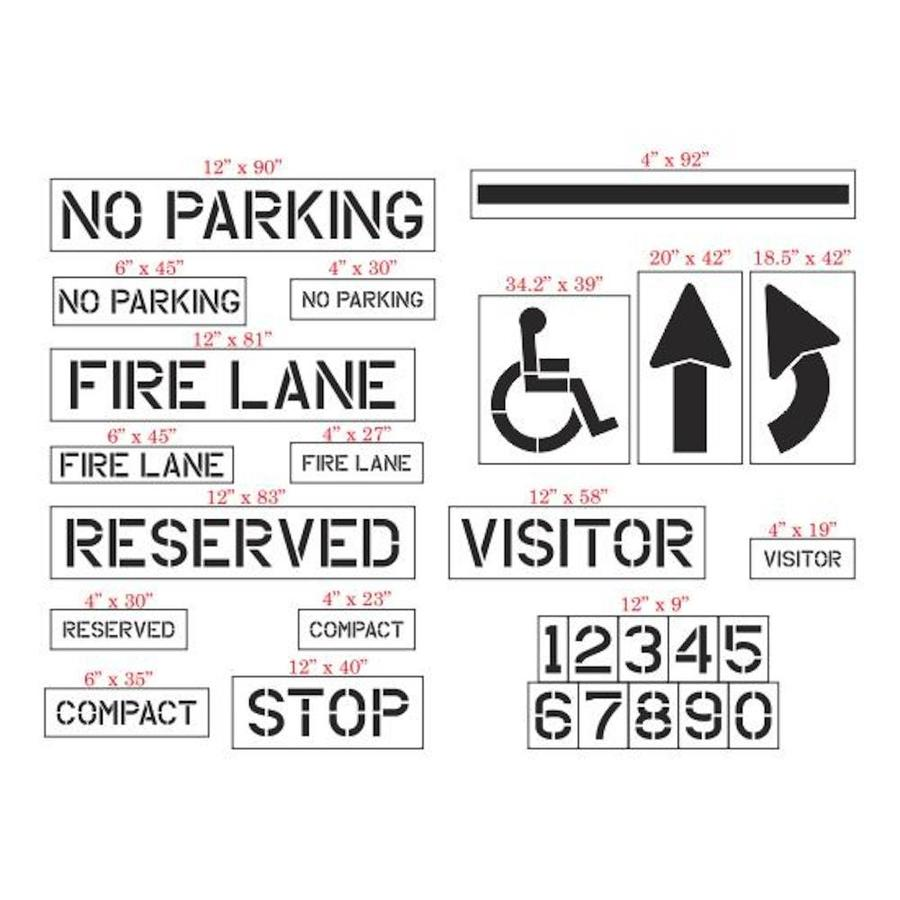 Stencil Ease 27-Piece Parking Lot Stencil Kit