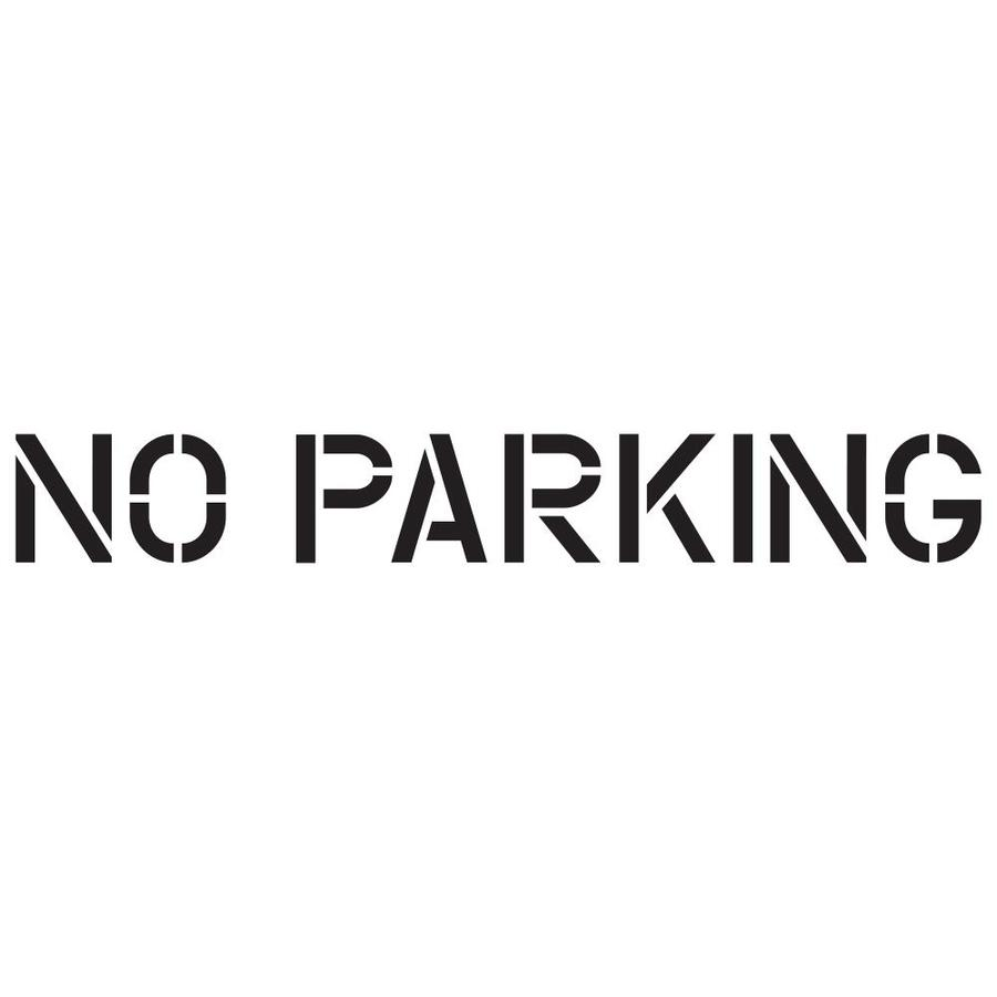 Shop stencil ease 12 in no parking paint stencil at for No parking signs template