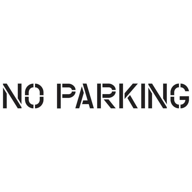 RAE STL-116-72432 Pavement Stencil,No Parking,24 in
