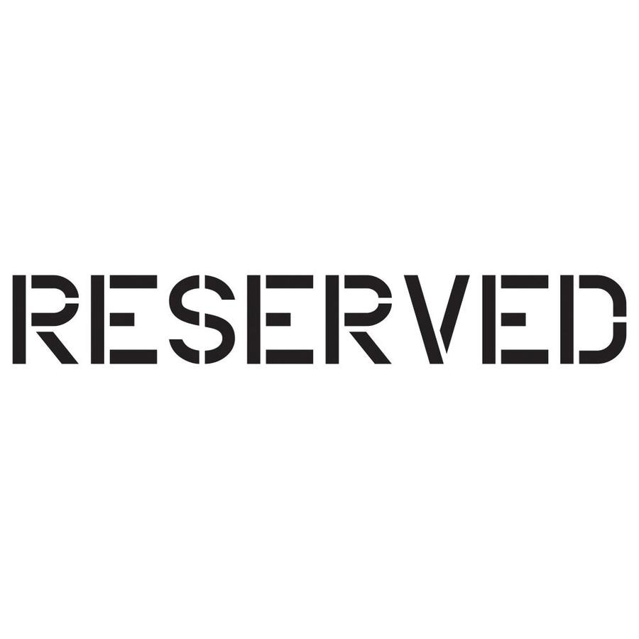 Shop stencil ease 6 in reserved paint stencil at for Reserved parking signs template