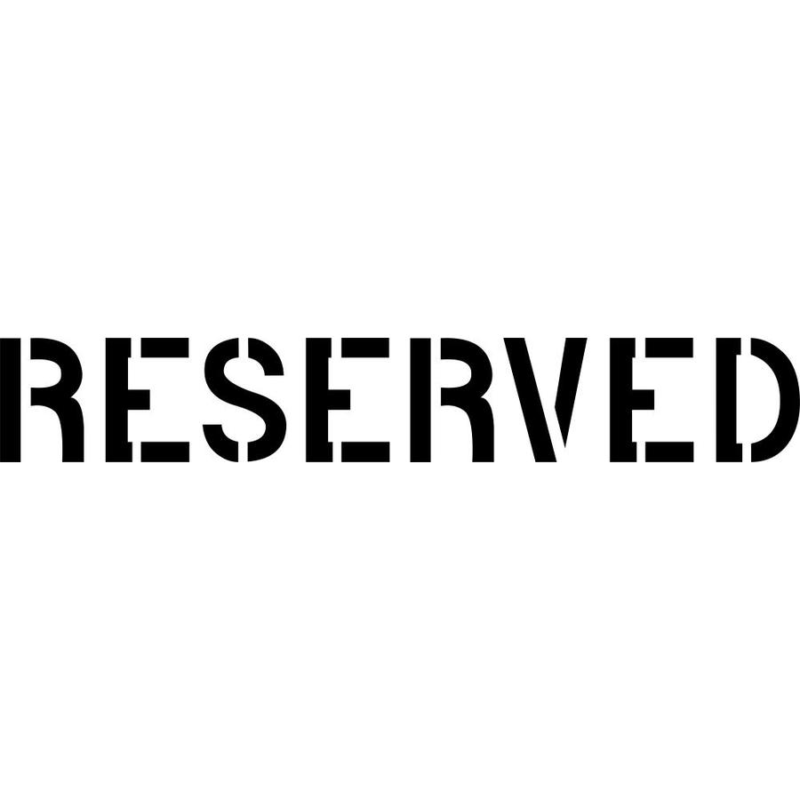 "Stencil Ease 24"" Reserved Sign Stencil"