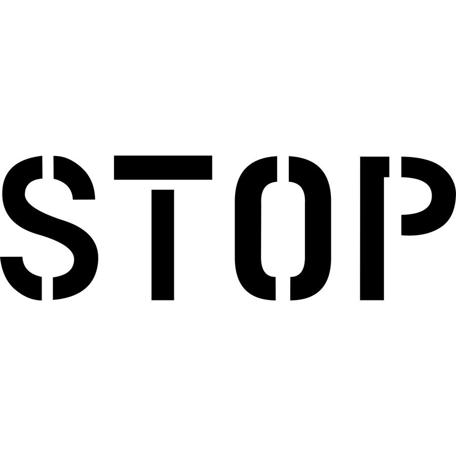 """Stencil Ease 22"""" Stop Stencil"""