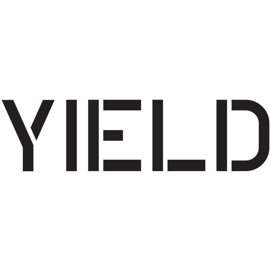 "Stencil Ease 12"" Yield Sign Stencil"