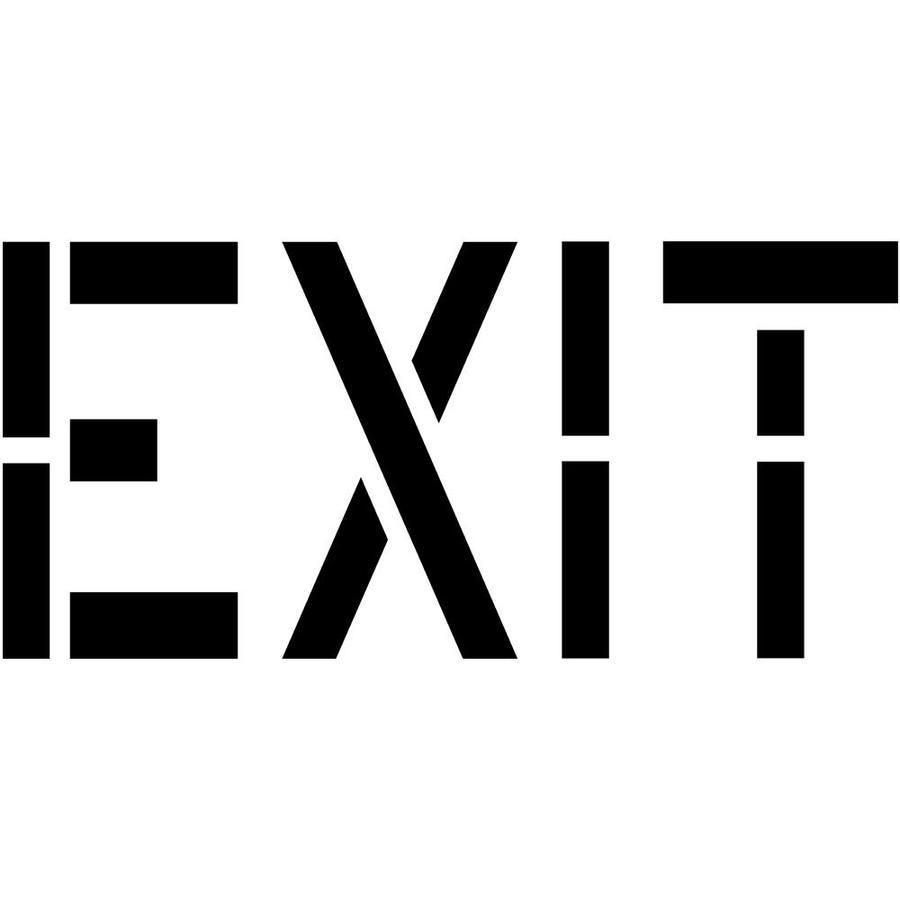 "Stencil Ease 6"" Exit Sign Stencil"
