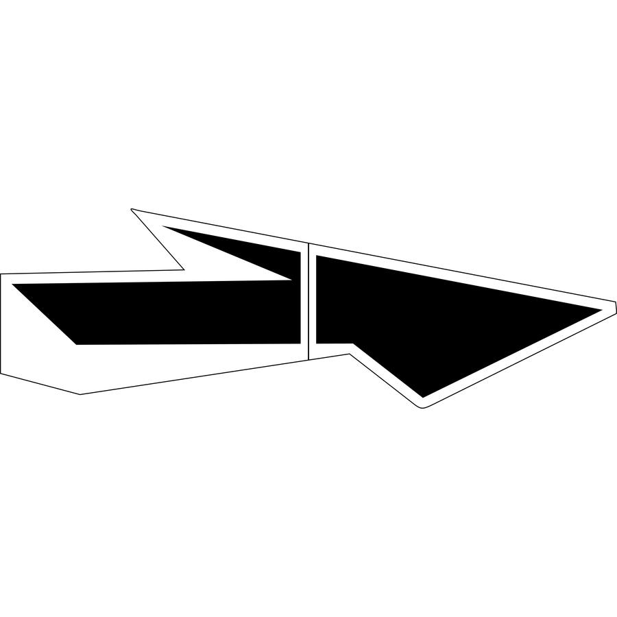 Stencil Ease 18' Lane Drop Arrow