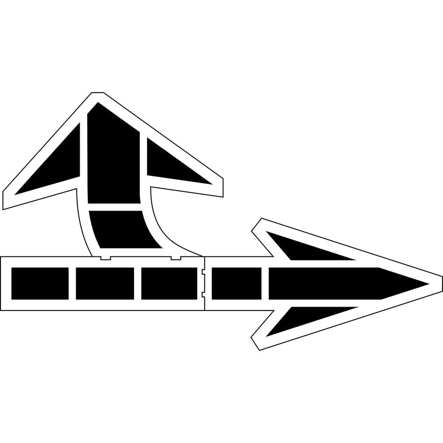 Stencil Ease 12-3/4' Bi-Directional Arrow