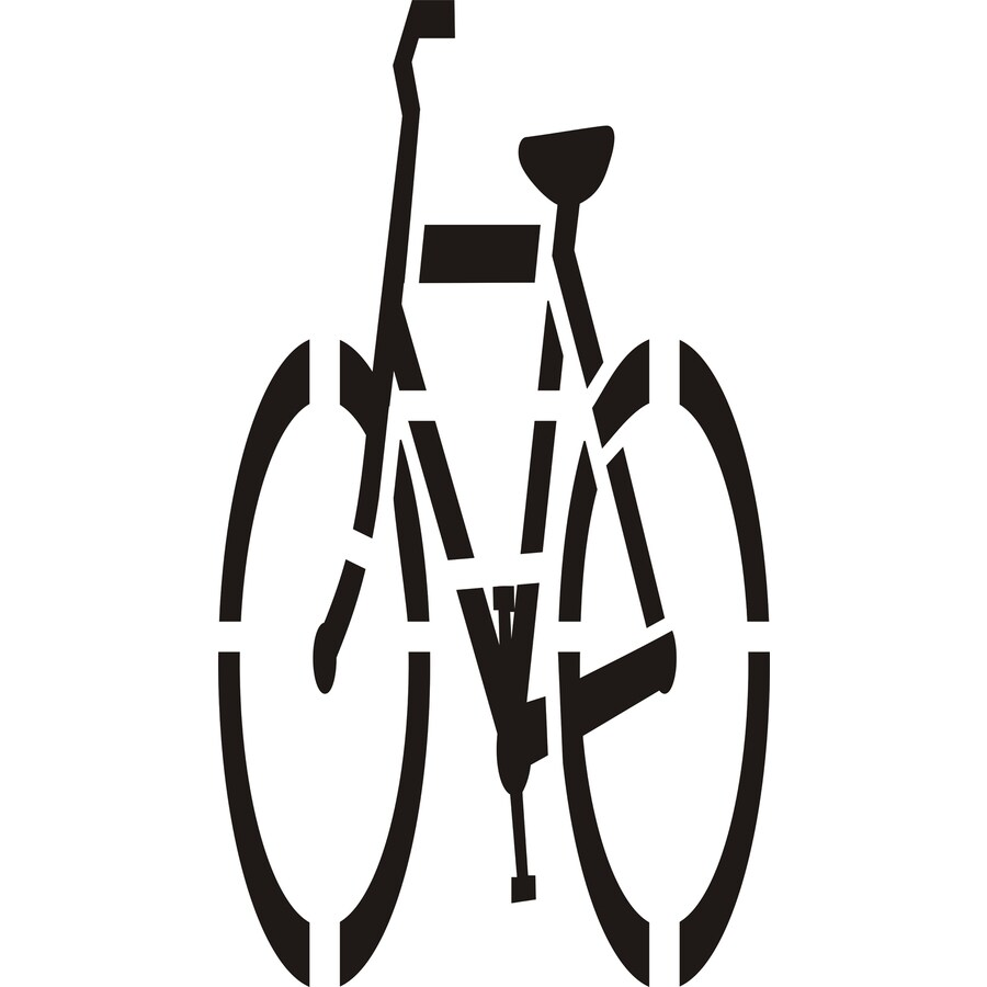 "Stencil Ease 72"" Bicycle Symbol"