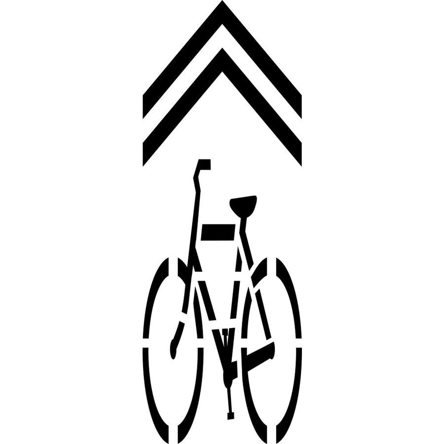 """Stencil Ease 112"""" Bicycle with Chevron"""